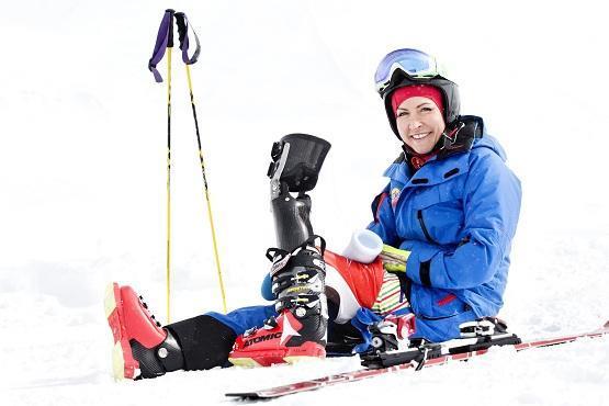 Heather Mills Trains for Sochi
