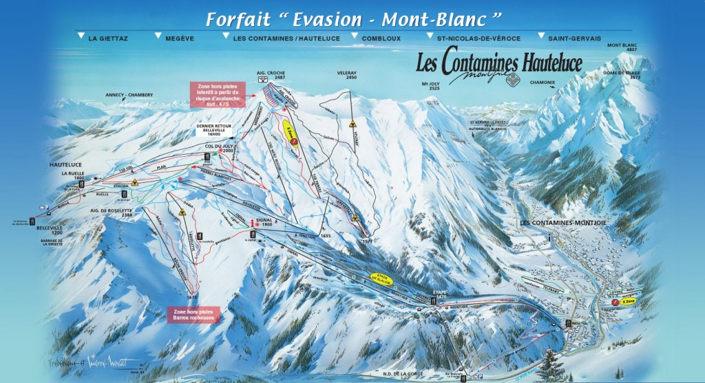 Les-Contamines-Piste-Map
