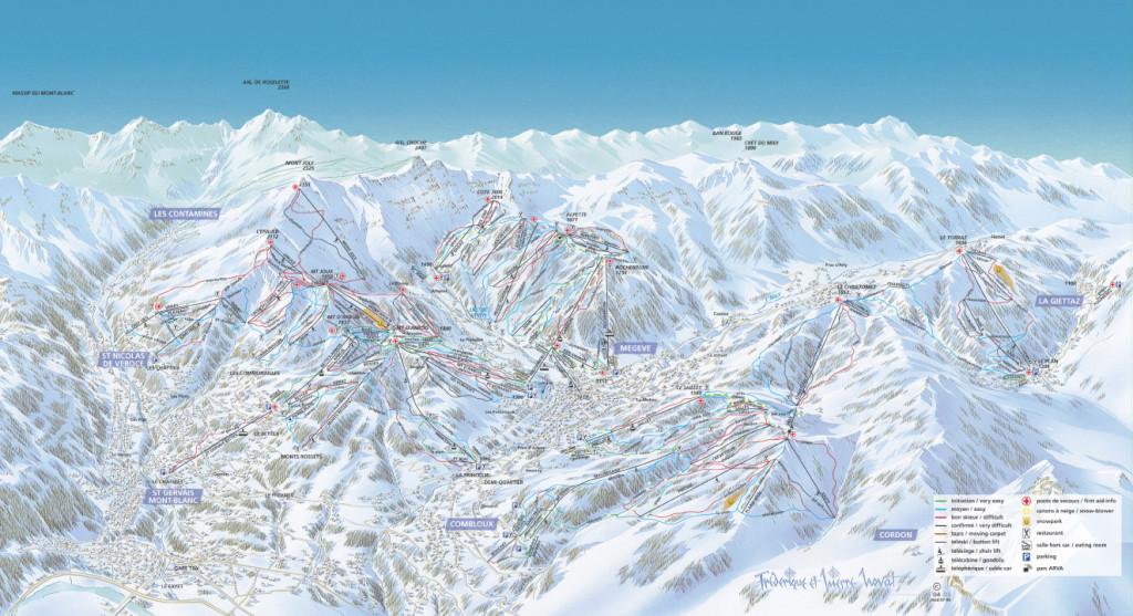 Megeve Piste Map 2012