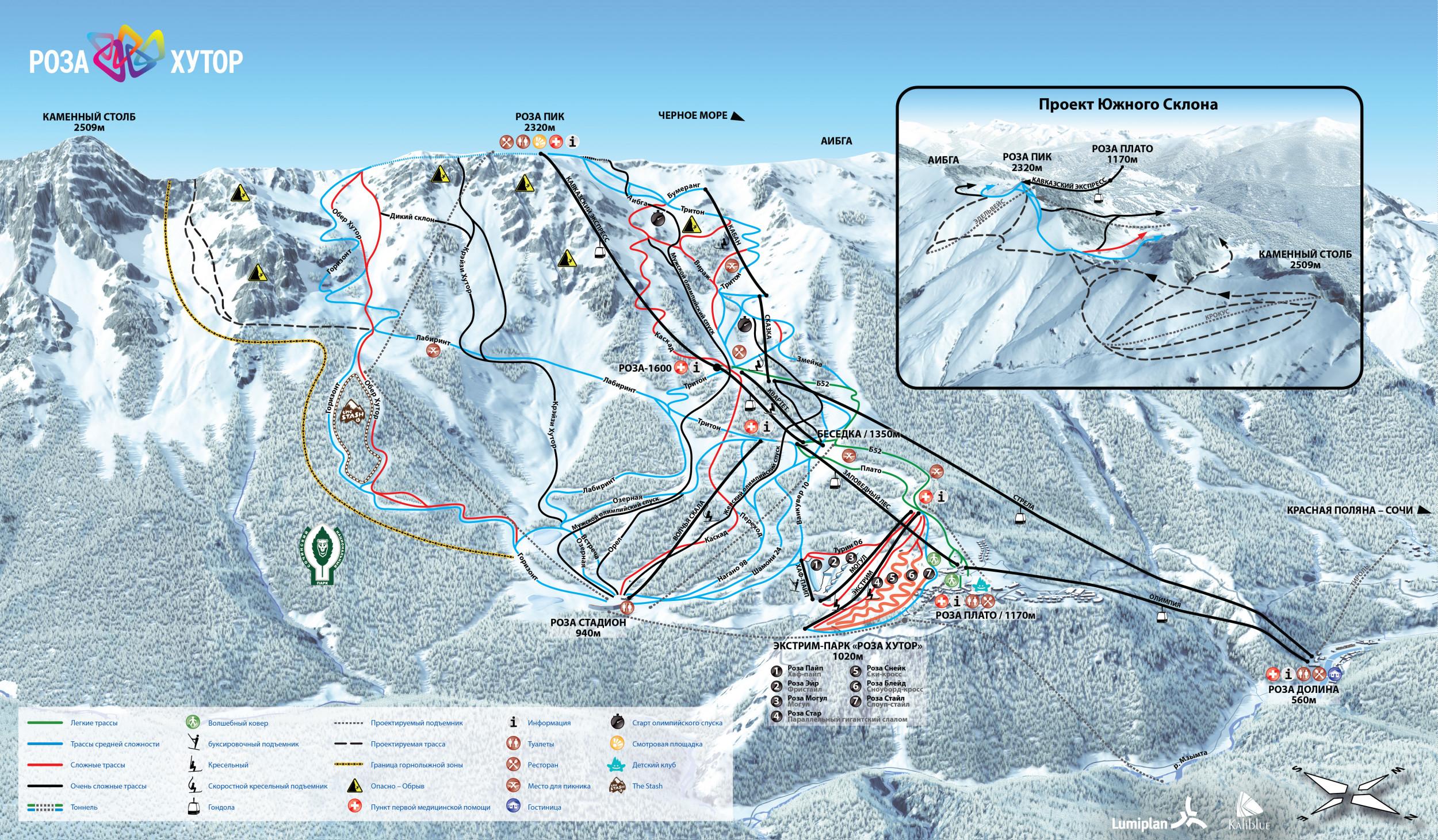 Sochi piste map