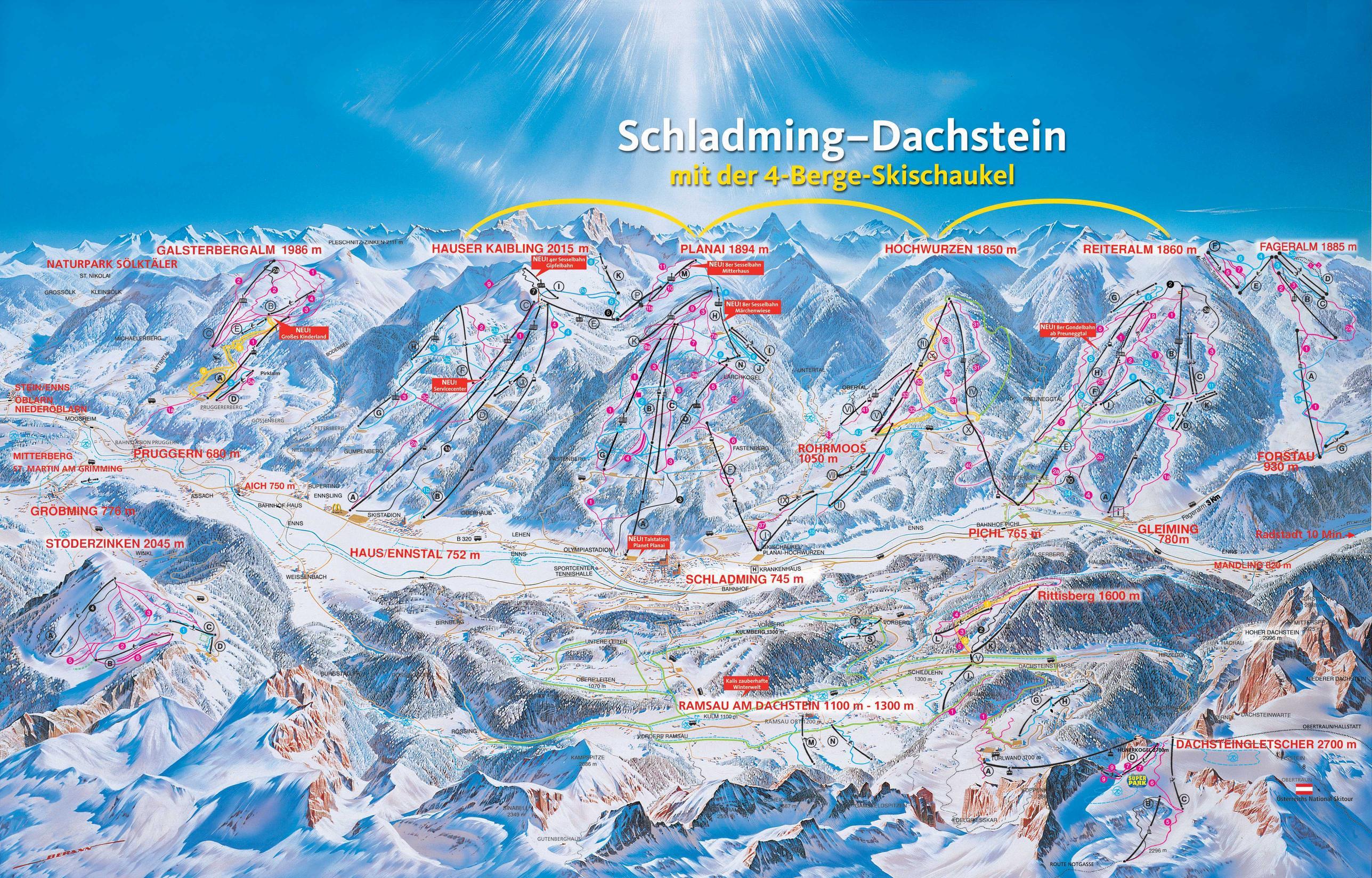 Schladming Piste Map