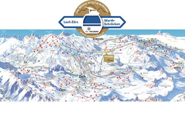 Piste map lech zurs barth