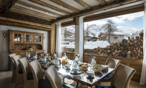 Luxurious Bergerie dining room