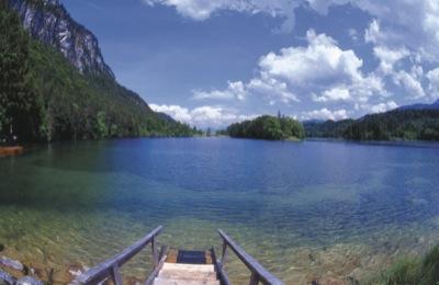 Reintalersee lake in Kramsach_