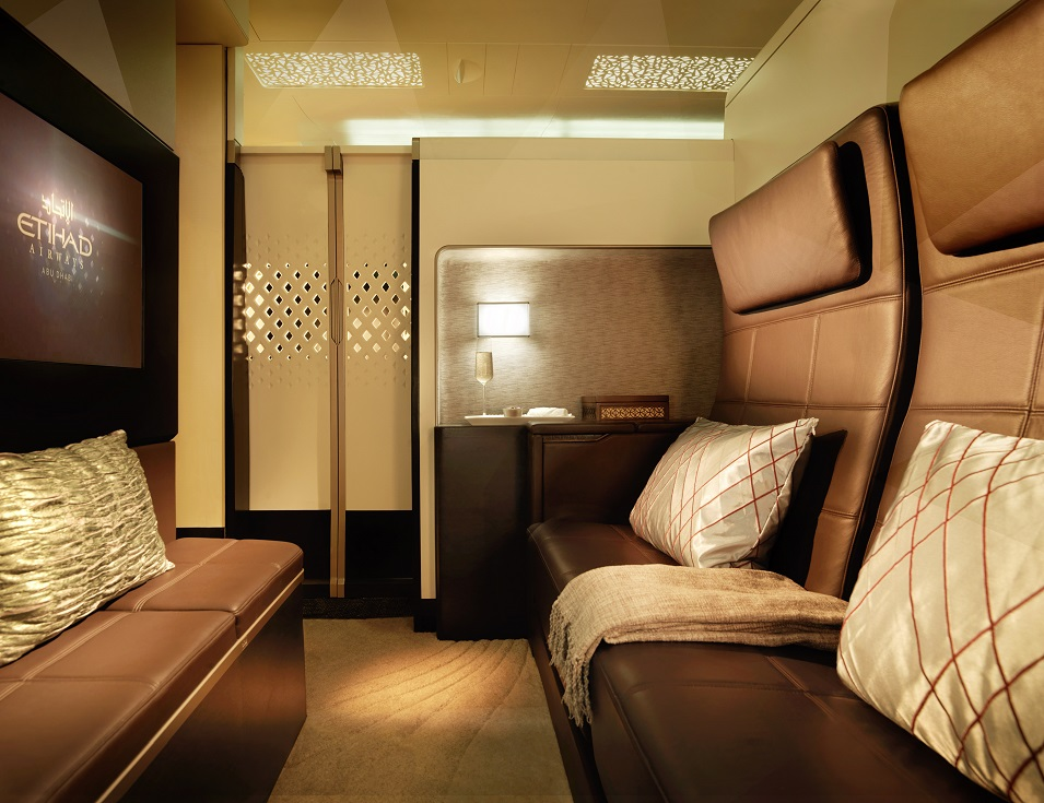 Etihad's suite in sky
