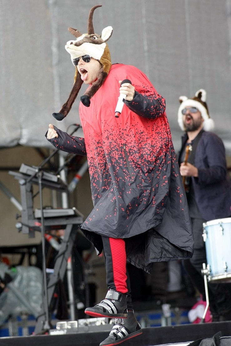 Thirty Seconds To Mars frontman Jared Leto in Ischgl