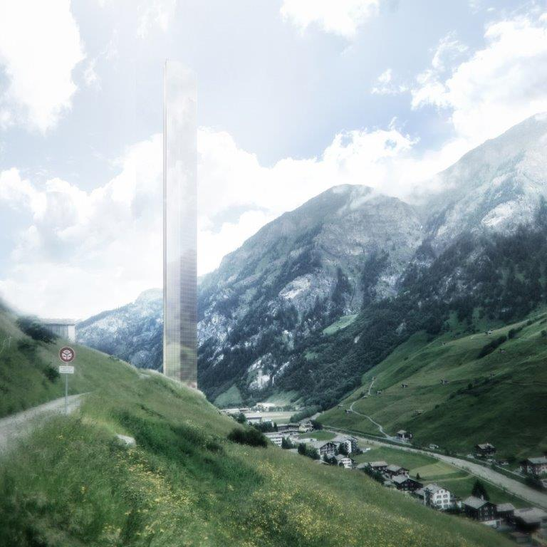 Up in the clouds - artist impression of the new Shard