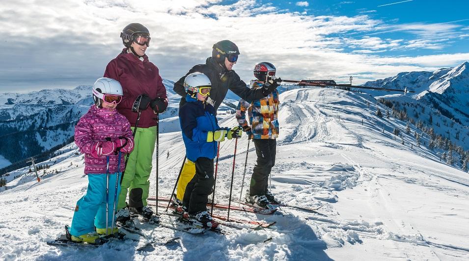 Ready to roll,, family in Ski Jewel region