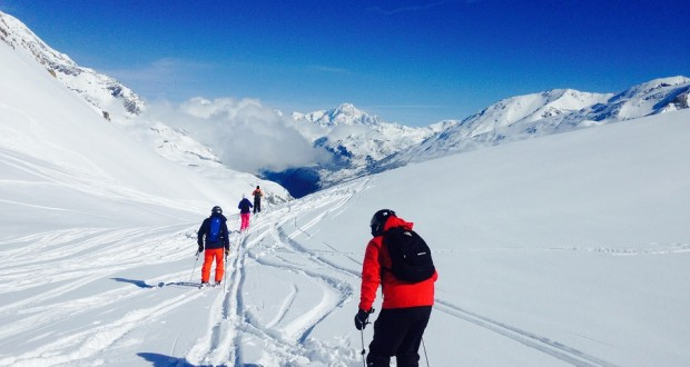 They're still skiing in Tignes