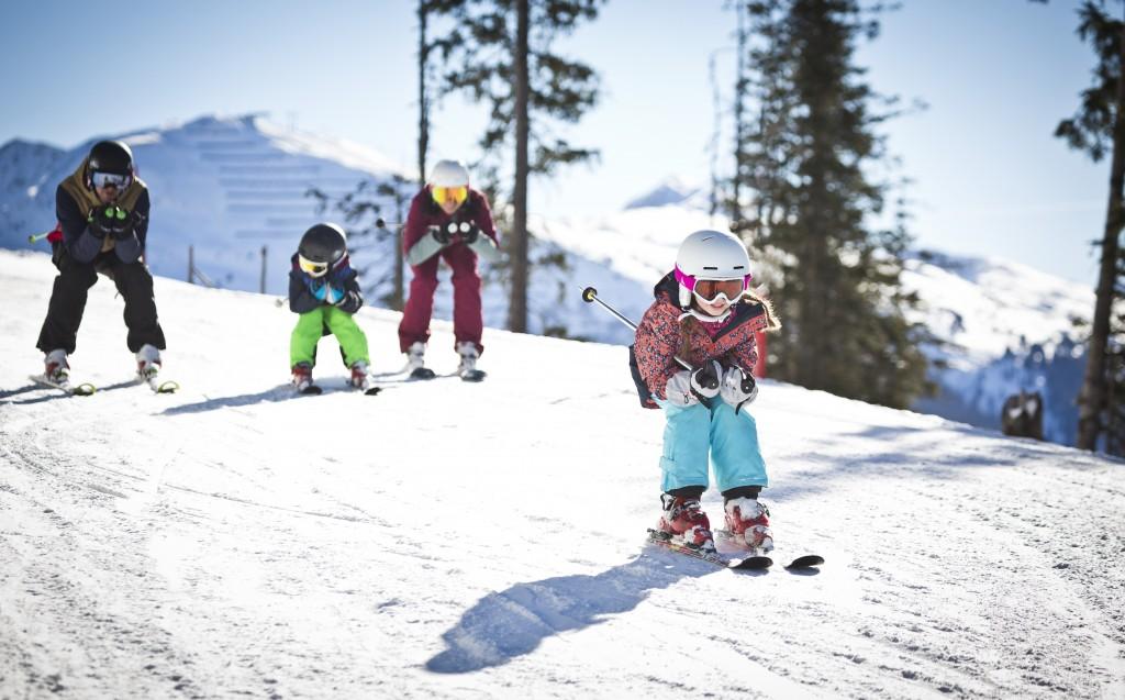 Kids play at Saalbach