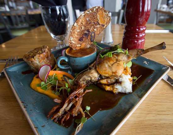 Rocky Mountain game platters at Whitehorn Bistro