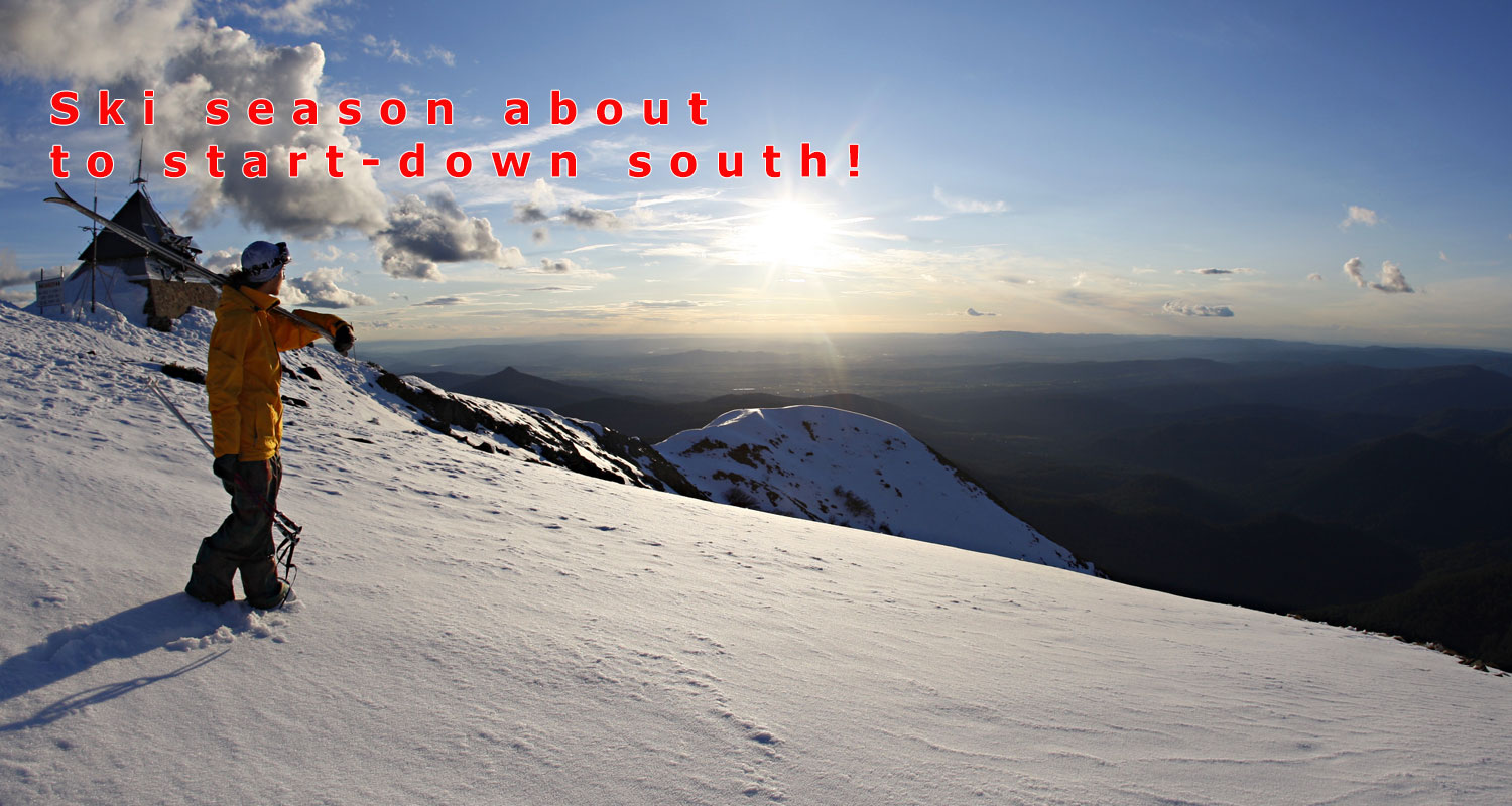 Ski season about to start – down south